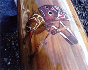 cedar strip kayak deck inlay